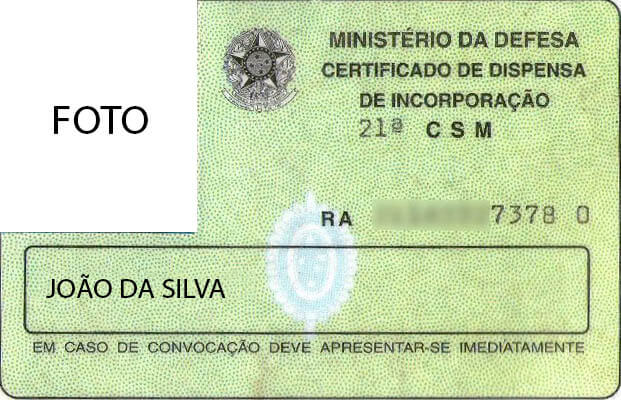 Certificado de Reservista